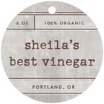 Vintage Unfiltered circle hang tags