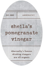 Vintage Unfiltered Tall Oval Label In Shale