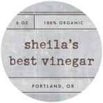 Vintage Unfiltered Circle Label In Shale