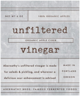 Vintage Unfiltered large labels