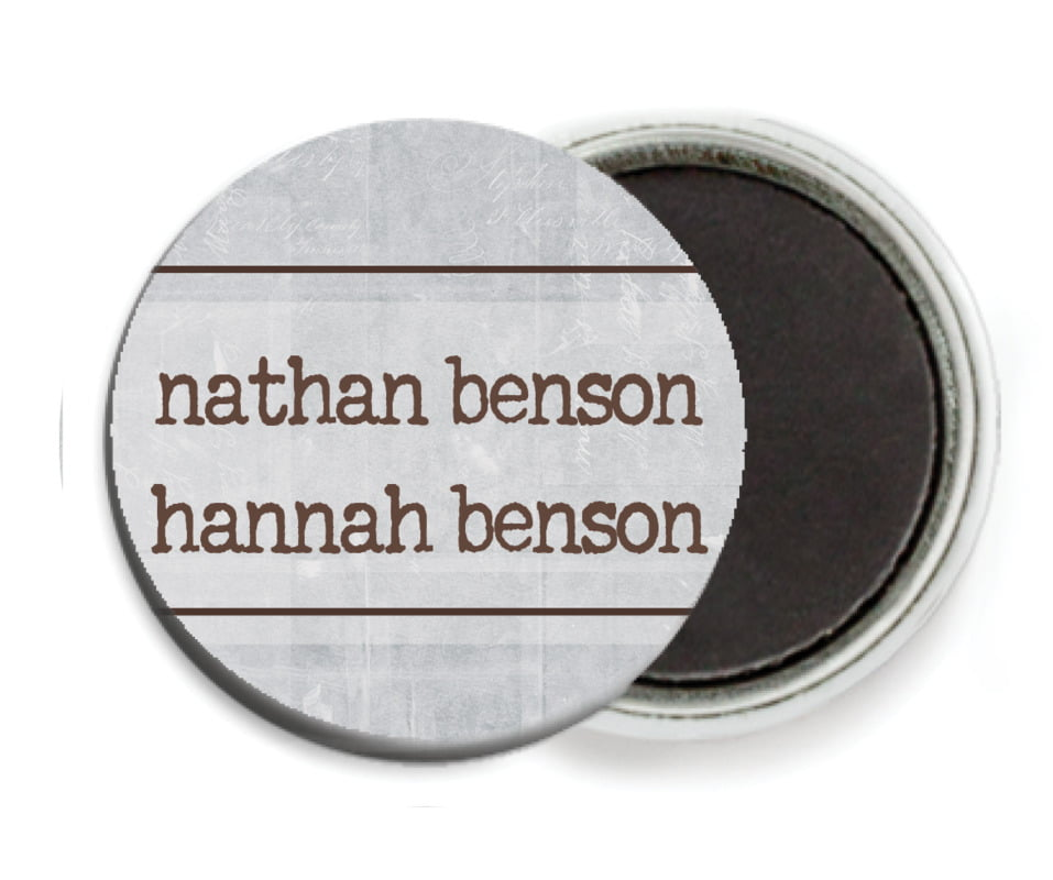 custom button magnets - shale - vintage unfiltered (set of 6)
