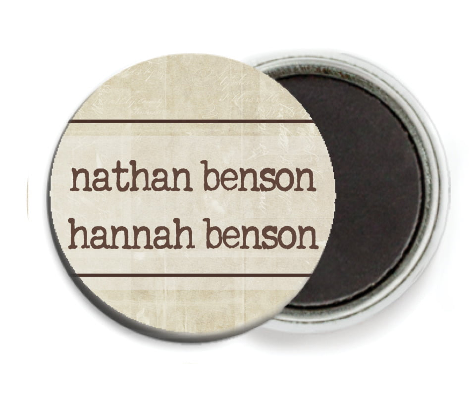 custom button magnets - sand - vintage unfiltered (set of 6)