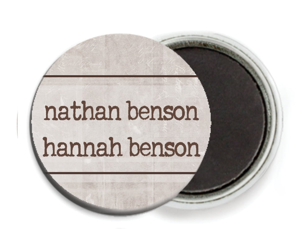 custom button magnets - warm stone - vintage unfiltered (set of 6)
