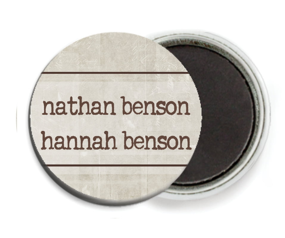 custom button magnets - limestone - vintage unfiltered (set of 6)