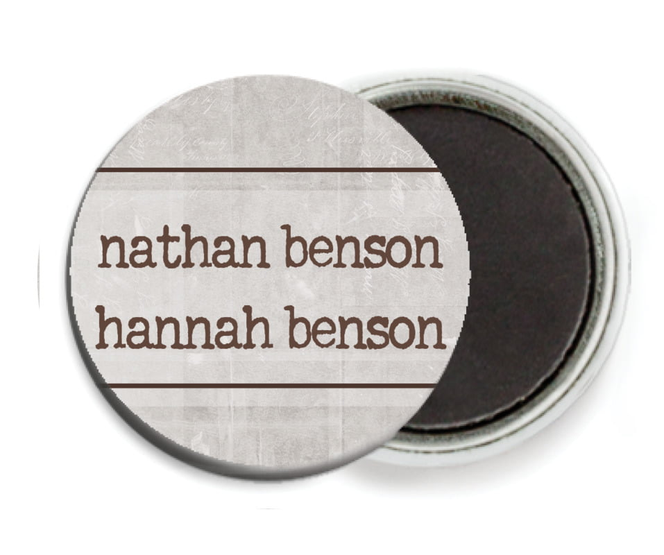 custom button magnets - fog - vintage unfiltered (set of 6)