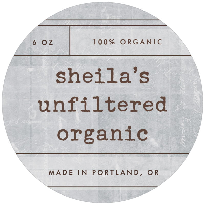 circle food/craft labels - shale - vintage unfiltered (set of 12)