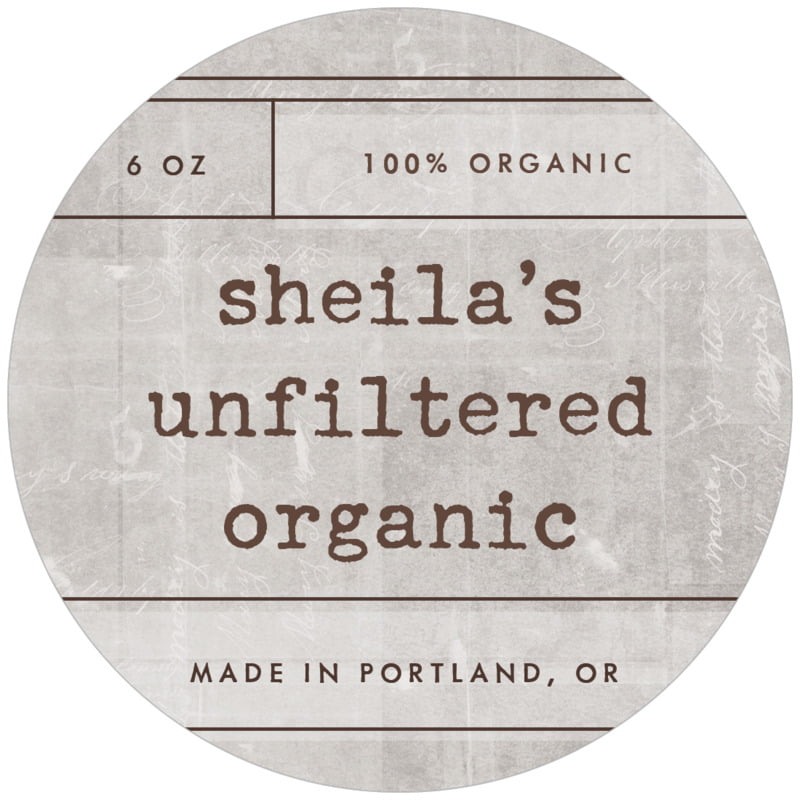 circle food/craft labels - fog - vintage unfiltered (set of 12)
