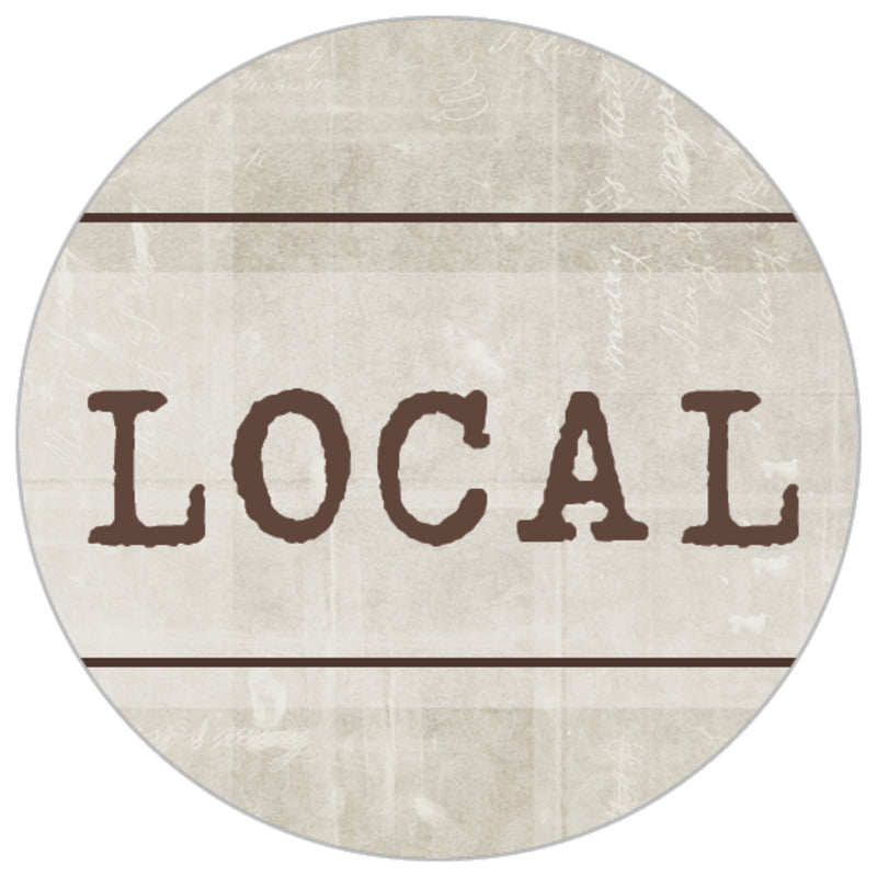 small circle food/craft labels - limestone - vintage unfiltered (set of 70)