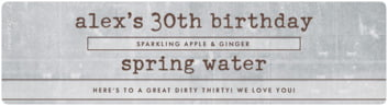 Vintage Unfiltered bottled water labels