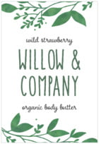 Willow Tall Rectangle Label In Forest
