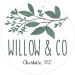 Willow circle hang tags