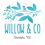 Willow Circle Hang Tag In Tidal Blue