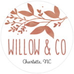 Willow Circle Label In Rose Gold