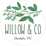 Willow Circle Label In Forest