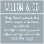 Willow square text labels