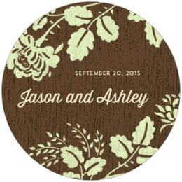 Woodland Bliss round coasters