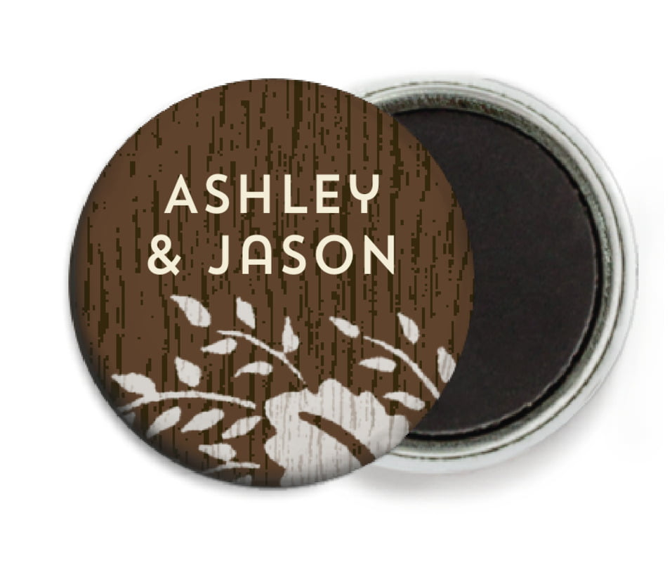 custom button magnets - stone - woodland bliss (set of 6)