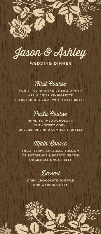 custom menus - pale gold - woodland bliss (set of 10)