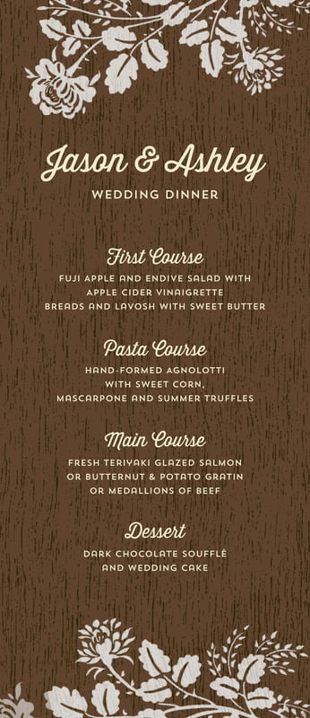 custom menus - stone - woodland bliss (set of 10)