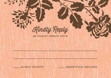 custom response cards - peach - woodland bliss (set of 10)