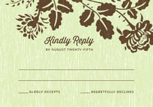 custom response cards - lime - woodland bliss (set of 10)