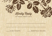 custom response cards - pale gold - woodland bliss (set of 10)