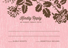 custom response cards - pink - woodland bliss (set of 10)