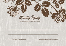 custom response cards - stone - woodland bliss (set of 10)