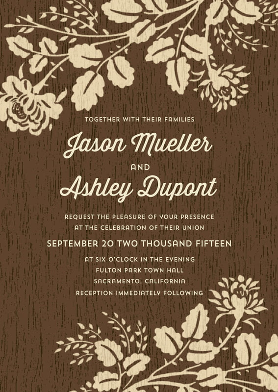 custom invitations - pale gold - woodland bliss (set of 10)