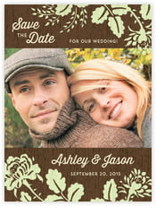 Woodland Bliss save the date cards