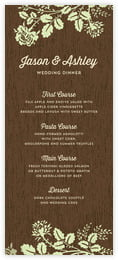 Woodland Bliss menus