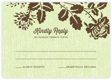 Woodland Bliss response cards