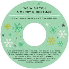 Winter Cheer cd labels