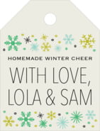 Winter Cheer small luggage tags