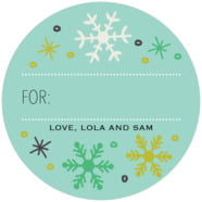 Winter Cheer large circle gift labels