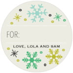 Winter Cheer small circle gift labels