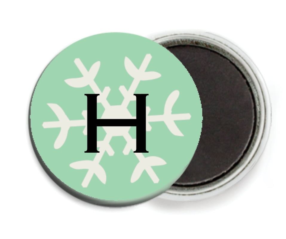 custom button magnets - mint - winter cheer (set of 6)