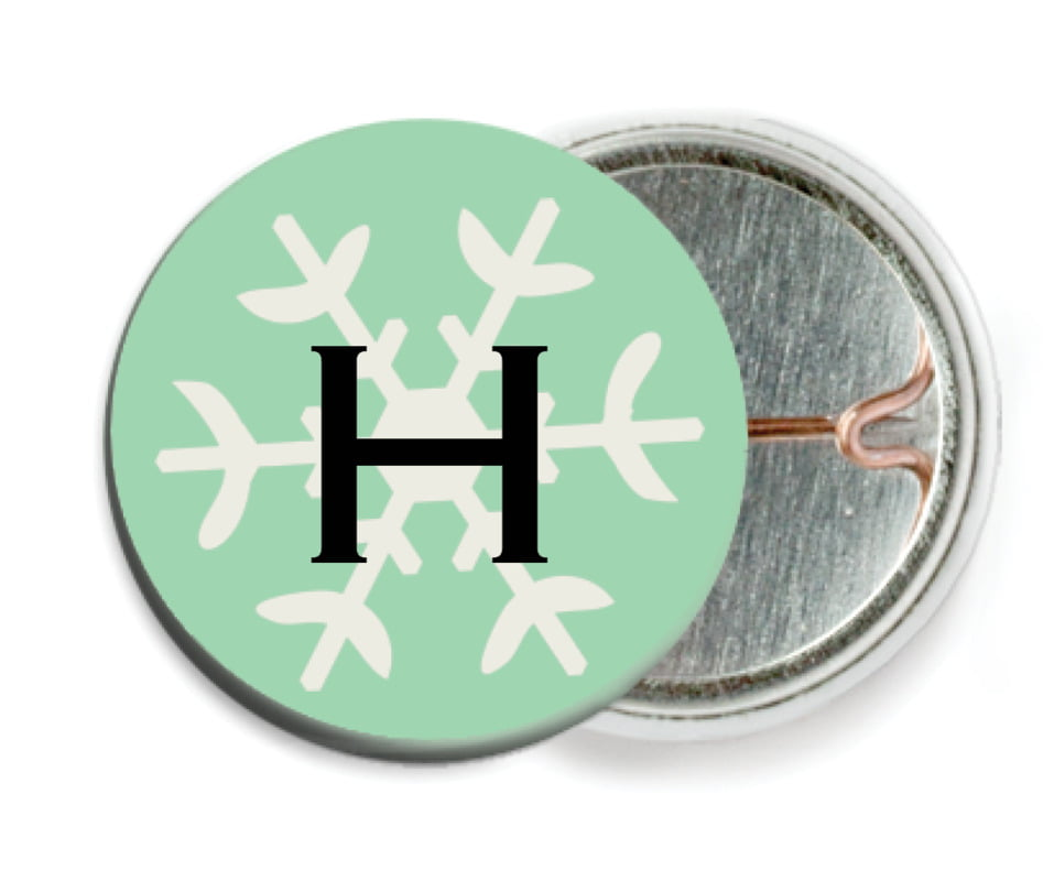 custom pin back buttons - mint - winter cheer (set of 6)
