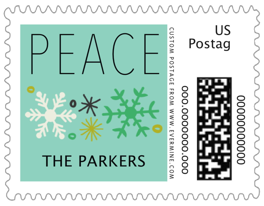 small custom postage stamps - aruba - winter cheer (set of 20)