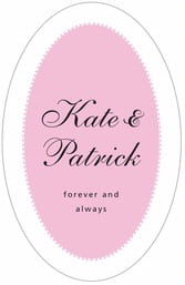 Westchester tall oval labels