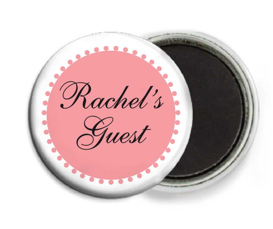 custom button magnets - grapefruit - westchester (set of 6)