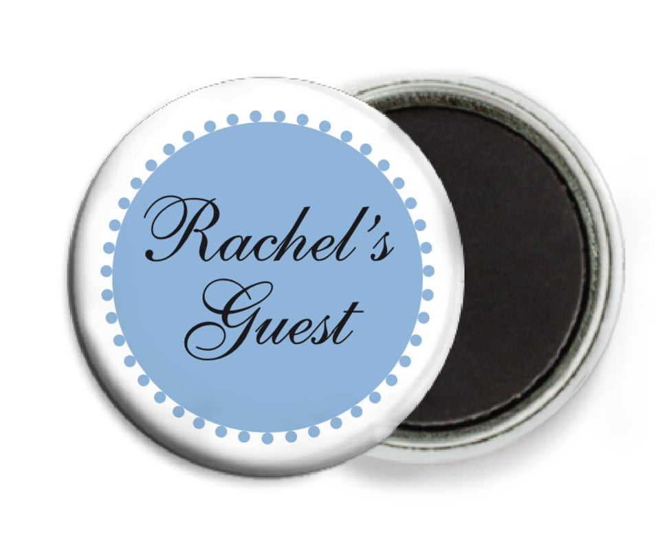 custom button magnets - blue - westchester (set of 6)