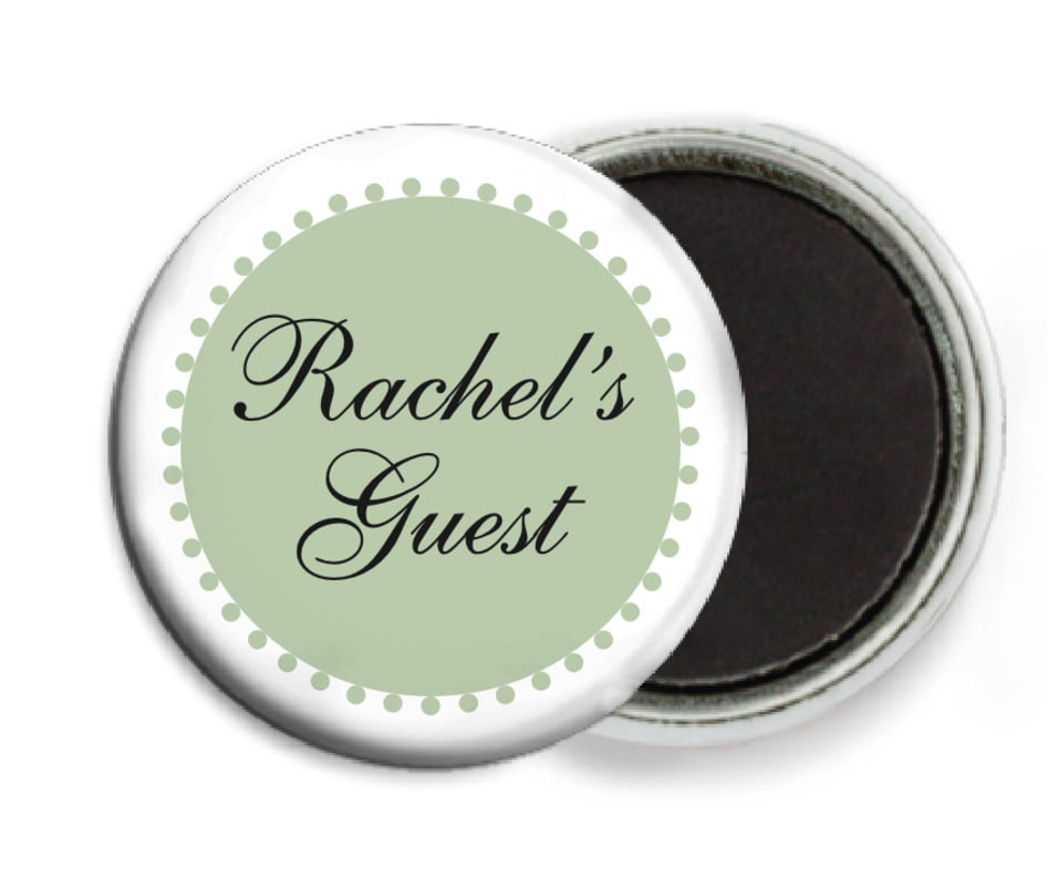 custom button magnets - sage - westchester (set of 6)