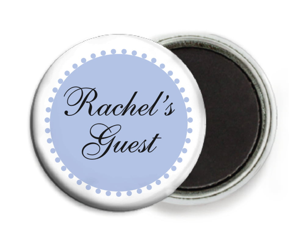 custom button magnets - periwinkle - westchester (set of 6)