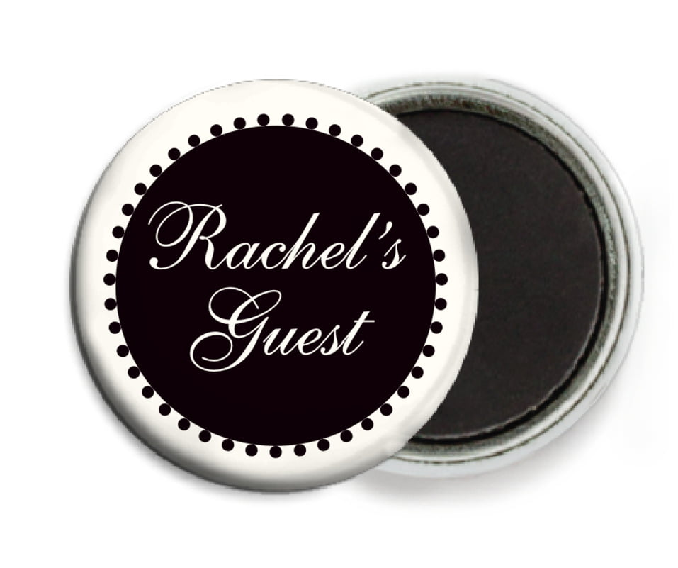custom button magnets - tuxedo - westchester (set of 6)