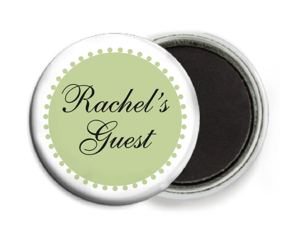 custom button magnets - green tea - westchester (set of 6)