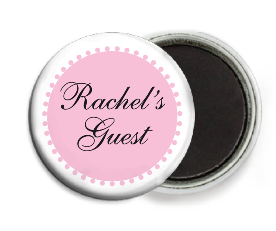 custom button magnets - pale pink - westchester (set of 6)