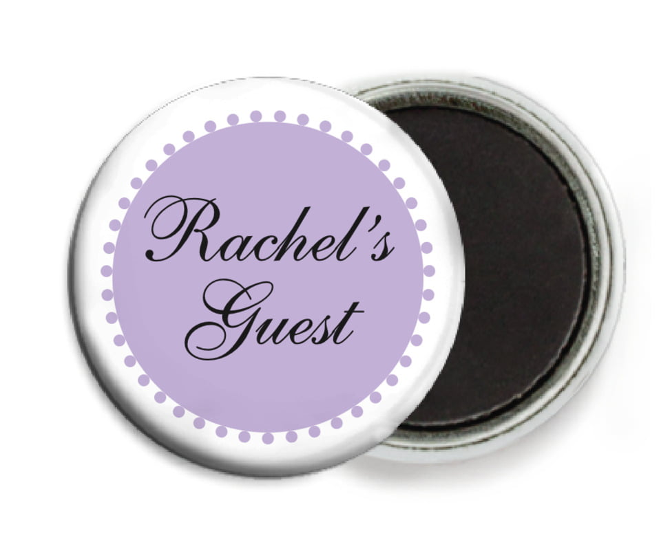 custom button magnets - lilac - westchester (set of 6)