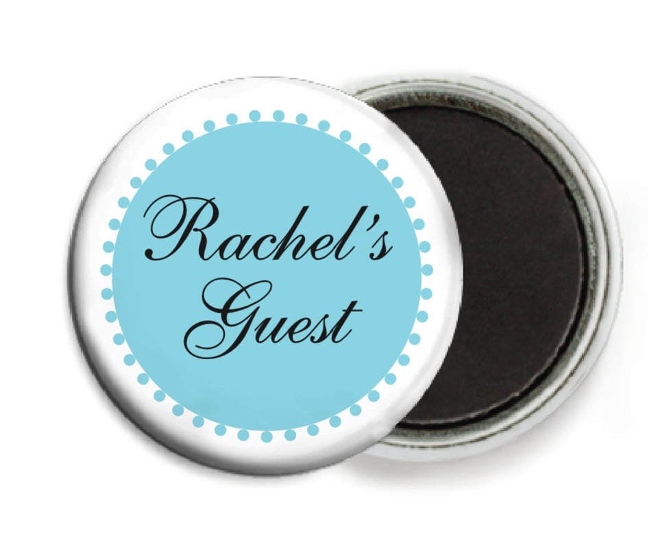 custom button magnets - bahama blue - westchester (set of 6)