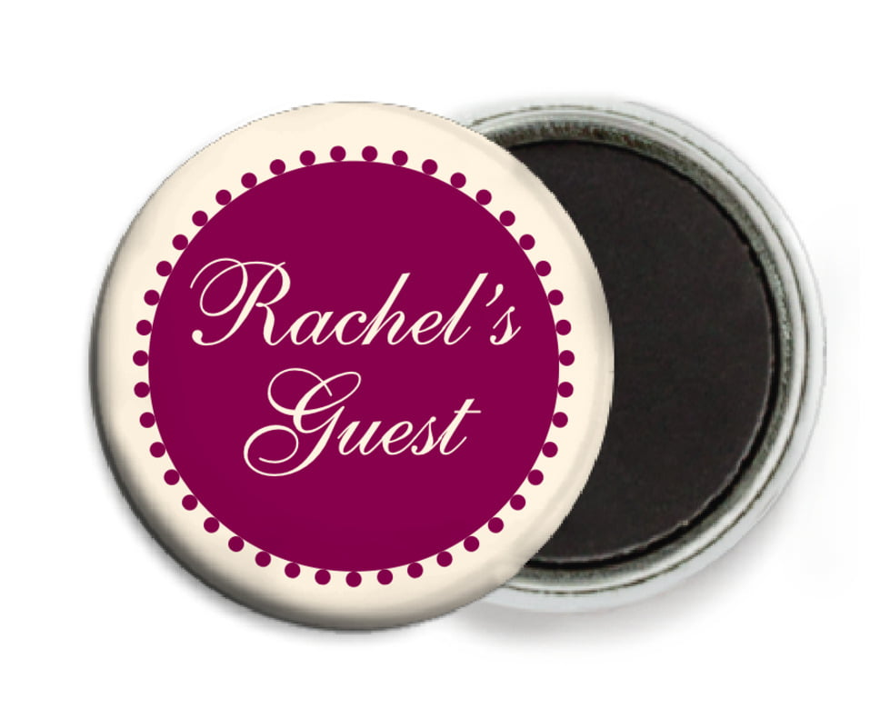 custom button magnets - burgundy - westchester (set of 6)